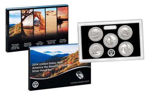 2014 National Park Silver Quarters in Proof Set