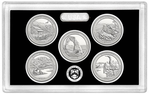 2014 Proof National Park Silver Quarters