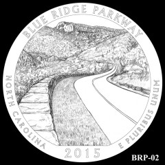 Blue Ridge Parkway Quarter Design BRP-02