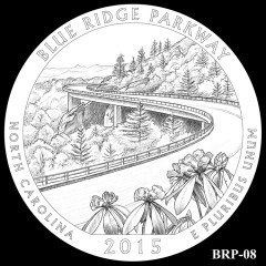 Blue Ridge Parkway Quarter Design BRP-08
