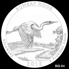 Bombay Hook National Wildlife Refuge Quarter Design BH-04