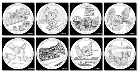 Candidate Reverse Designs for 2015 Quarters