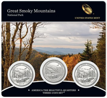Great Smoky Mountains National Park Quarters Three-Coin Set