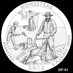 Homestead National Monument of America Quarter Design HP-01
