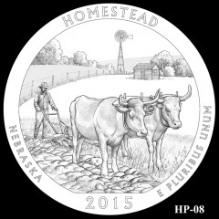 Homestead National Monument of America Quarter Design HP-08