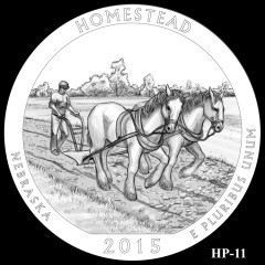 Homestead National Monument of America Quarter Design HP-11