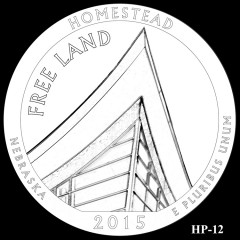 Homestead National Monument of America Quarter Design HP-12
