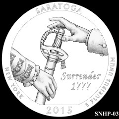 Saratoga National Historical Park Quarter Design SNHP-03