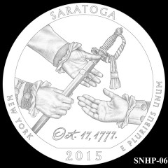 Saratoga National Historical Park Quarter Design SNHP-06