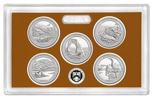 Proof Versions of the 2014 National Park Quarters