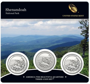 Shenandoah National Park Quarters Three-Coin Set
