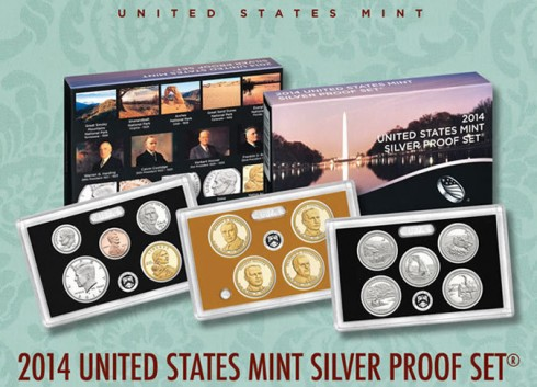 US Mint promotion image of its 2014 Silver Proof Set