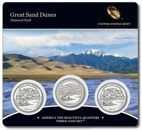 Great Sand Dunes National Park Quarters Three-Coin Set