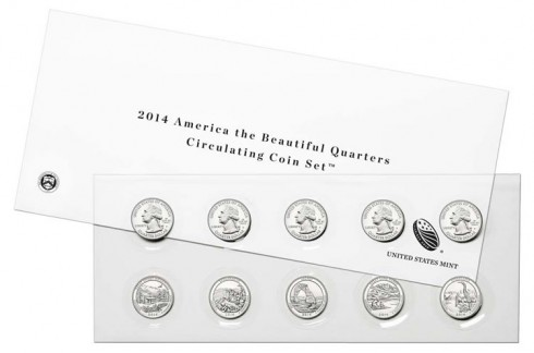 2014 America the Beautiful Quarters Circulating Coin Set