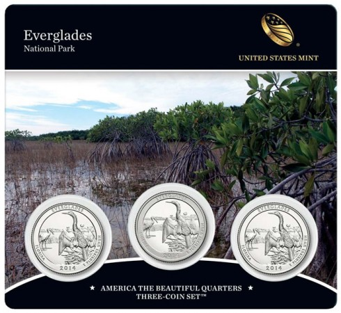 2014 Everglades National Park Quarters Three-Coin Set