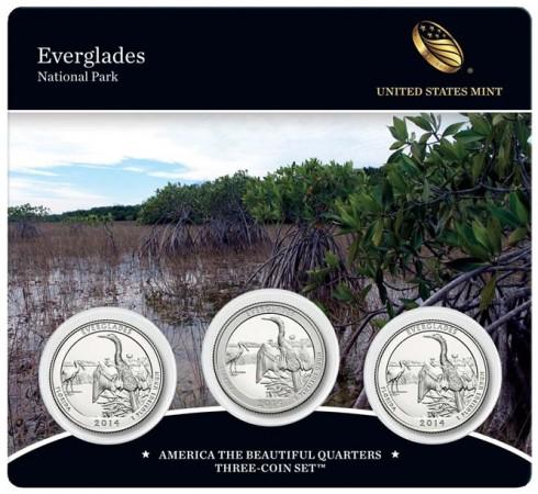 2014 Everglades National Park Quarters Three-Coin Set