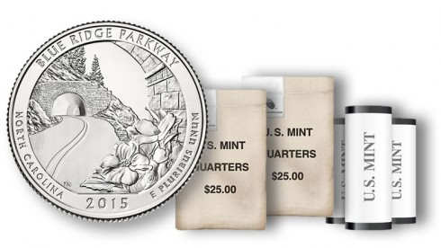 2015 Blue Ridge Parkway Quarters in rolls and bags