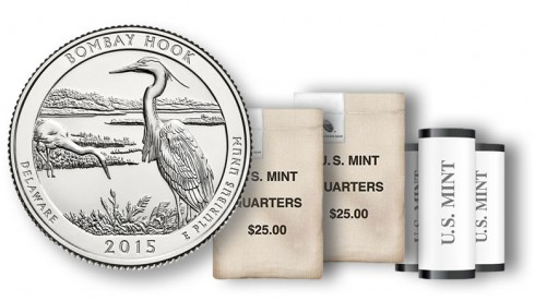 Bombay Hook quarters in rolls and bags