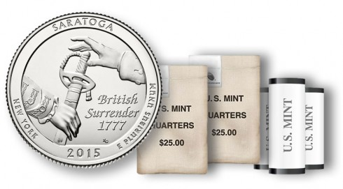 Saratoga National Historical Park Quarter in rolls and bags