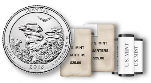 Shawnee National Forest Quarter in rolls and bags