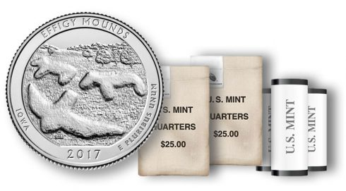 Effigy Mounds Quarter, rolls and bags