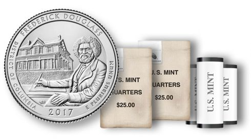 Frederick Douglass Quarter in rolls and bags
