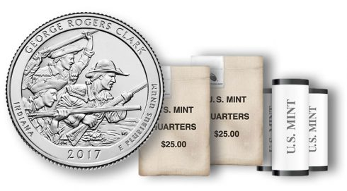 2017 George Rogers Clark Quarter in rolls and bags