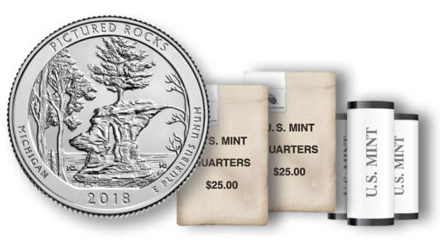 Pictured Rocks National Lakeshore Quarter in rolls and bags