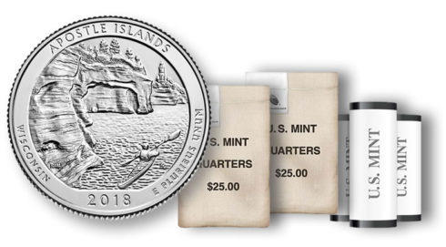 Apostle Islands National Lakeshore Quarter in rolls and bags