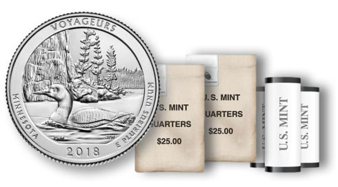 Voyageurs National Park Quarter in rolls and bags