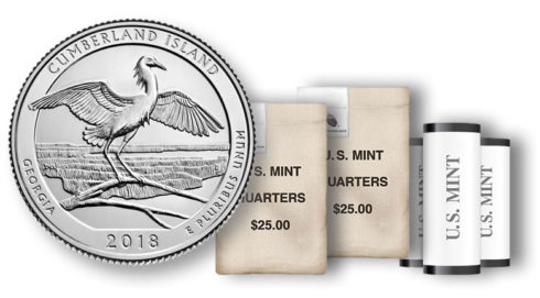 Cumberland Island National Seashore quarter in rolls and bags